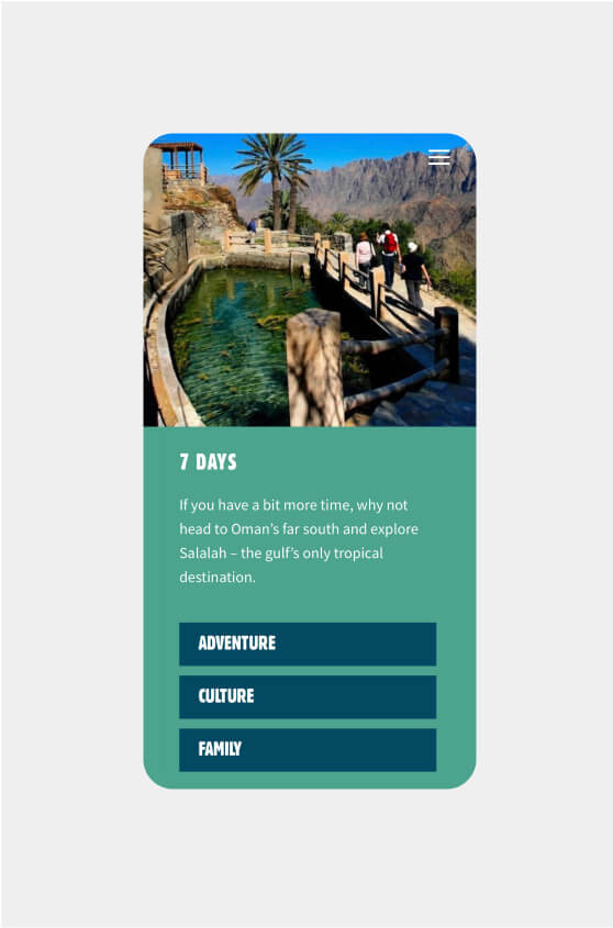 Experience Oman