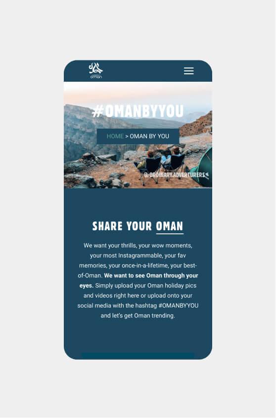 Experience Oman - Website Wonder
