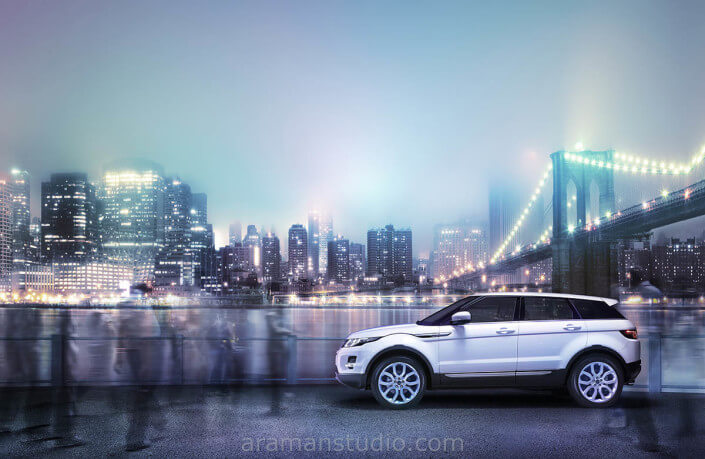 white car photography